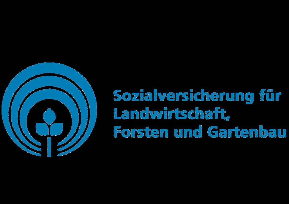 Das Bild zeigt das Logo der Sozialversicherung für Landwirtschaft, Forsten und Gartenbau